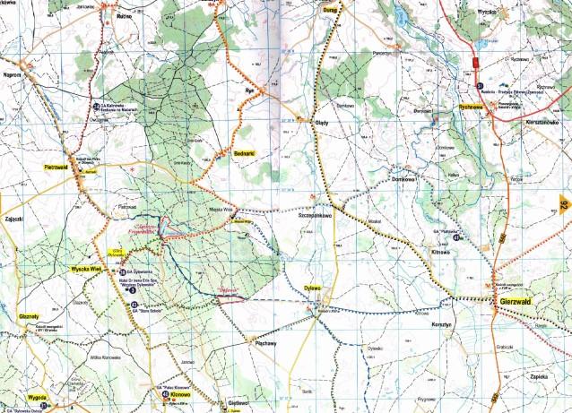 trasy rowerowe Gierzwałd